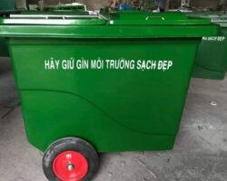Xe gom rác 3 bánh đúc 660 lít