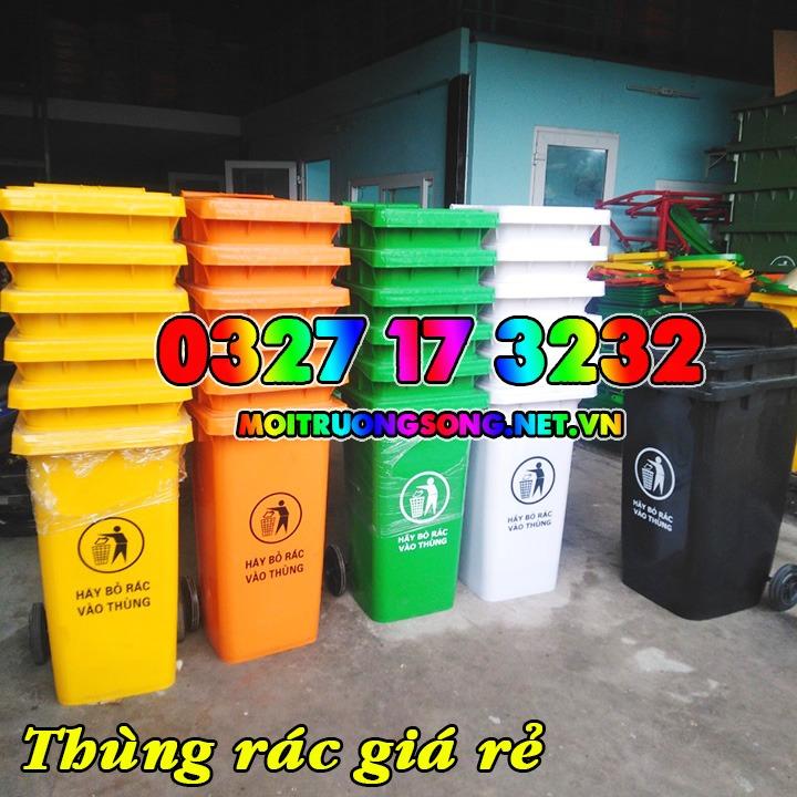 Thùng rác nhựa HDPE có bánh xe
