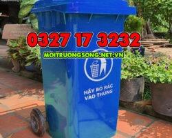 thùng rác nhựa 240l màu xanh dương