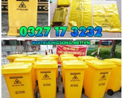 thùng rác y tế khu cách ly Đồng Nai